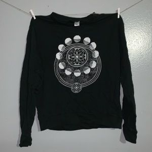 Black Moon phases sweat shirt.
